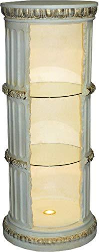 JV Moebel Vitrine Bar Regal Glas Amphore Vase Bodenfase Säule Schrank Vitrinen Regale 1858