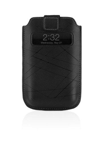 Belkin Holster Leder Pull Tab (geeignet für iPhone 3GS/ 3G, Sichtfenster) schwarz Iphone 3g Leder-holster