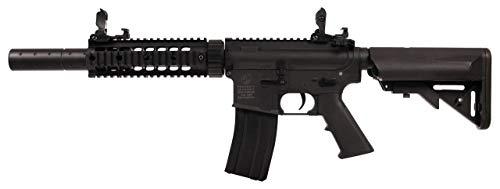 NFL Colt M4 Silent OPS AEG Schwarz 180870 Cybergun Full Metall/Farbe schwarz/elektrisch (0,5 Joule), Halb-/Vollautomatik
