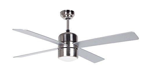 Orbegozo CP – Ventilador de techo con luz y mando a distancia, 4 palas, 105 cm de diámetro, potencia de 60 W y 3 velocidades