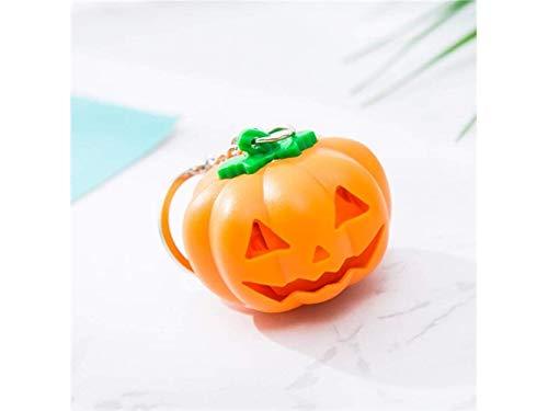 FERZA Home mit Shine and Voice LED-Licht Schlüsselanhänger Metall Anhänger für Frauen und Men_Orange Halloween Creative Halloween Pumpkin Keyring