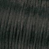 Kumihimo 1mm x 6m Baumwolle gewachst Cord, schwarz