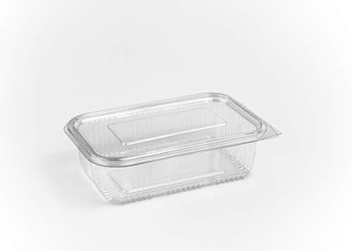 Contenitori per insalata da 750 ml, incernierati, per cibo da asporto e fast food, usa e getta, con coperchio, in plastica trasparente, confezione da 100 pezzi