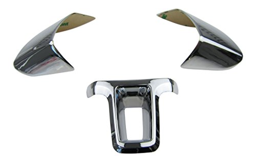Preisvergleich Produktbild ALU Lenkrad Abdeckung Blenden Clip Chrom im SET
