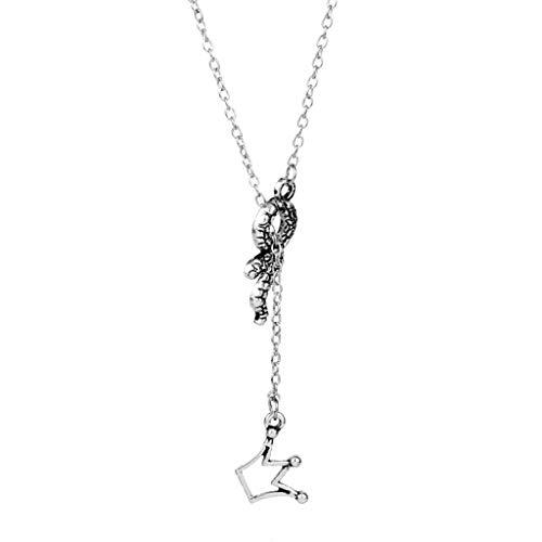 XXW Riverdale Serpent Halskette Fashion Temperament Crown Anhänger Schlüsselbein Kette Zubehör Unisex Cool