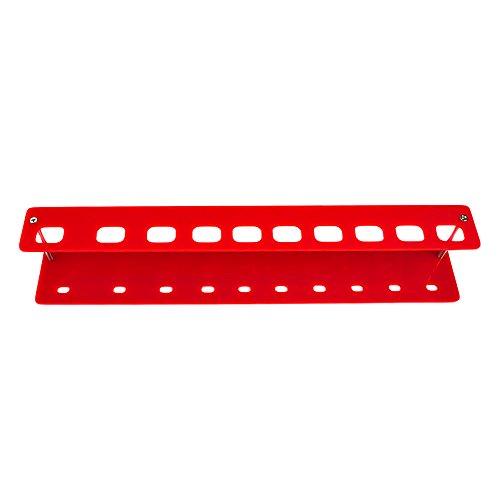 HuntGold brosse à dents porte-pinceau de maquillage support présentoir rangement 10Grille - rouge