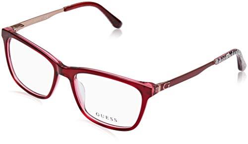 Guess Unisex-Erwachsene GU2630 068 52 Brillengestelle, Rot (Rosso),