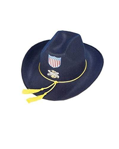 Kostüm Uniform Yankees - Horror-Shop Yankee Offiziers Hut blau