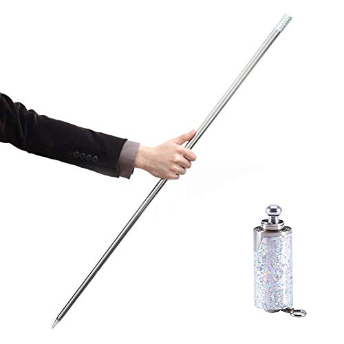 Silver Metal Appearing Cane Video Tutorial - Magician Stage Magic Trick Magician Stage Street Performance (Tv-antenne, Elektronische)