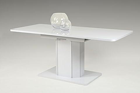 Esstisch Alba II Tisch Ausziehbarer Hochglanz weiß Ausziehbar Tisch,Wohnzimmertisch