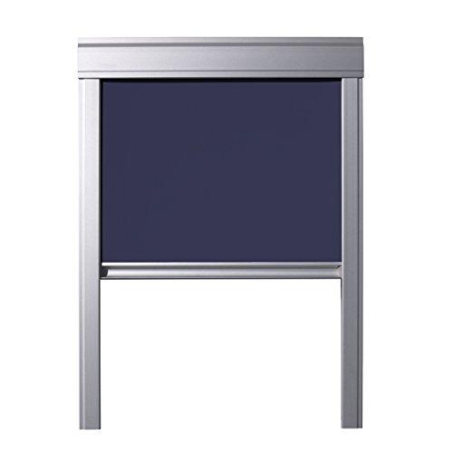 ITZALA Verdunkelungs-Rollo für VELUX Dachfenster, S08 / SK08, Dunkelblau (Plissee-grenze)