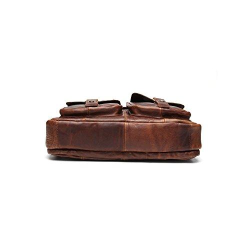 Borsa Di Spalla Casuale Del Messaggero Dell'Annata Del Sacchetto Di Cuoio Genuino Cioccolato