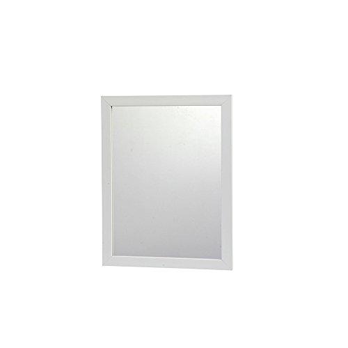 DRULINE RBS09DGC Spiegel Wandspiegel Türspiegel Schminkspiegel Flurspiegel Rechteckig, Maße(HxB): ca. 44,5 x 34 cm, Weiß