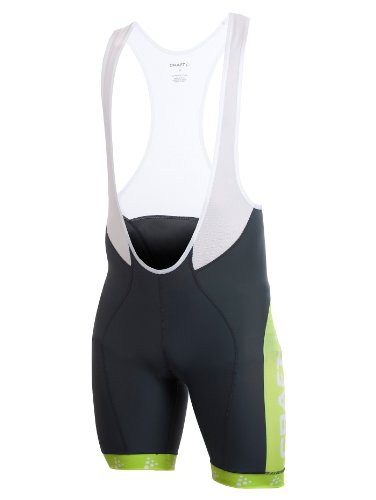 CRAFT 1900697 Active Bike Logo Bib Shorts, 2980 iron, 4 = S (Bib Bike Active)