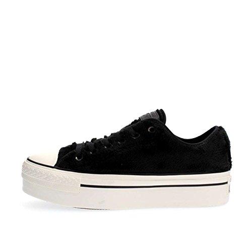 Converse - Converse Ctas Platform Ox Noir Chaussures De Sport Femme Noir
