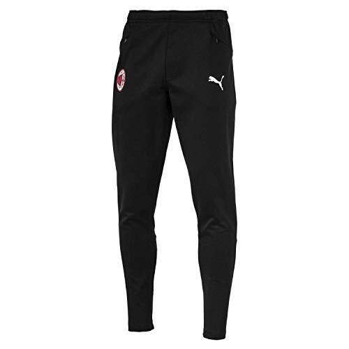 Puma AC Milan Casual Performance Sweat Pants with Zipped Pockets Pantalon De Jogging Homme, Black White, FR : M (Taille Fabricant : M)