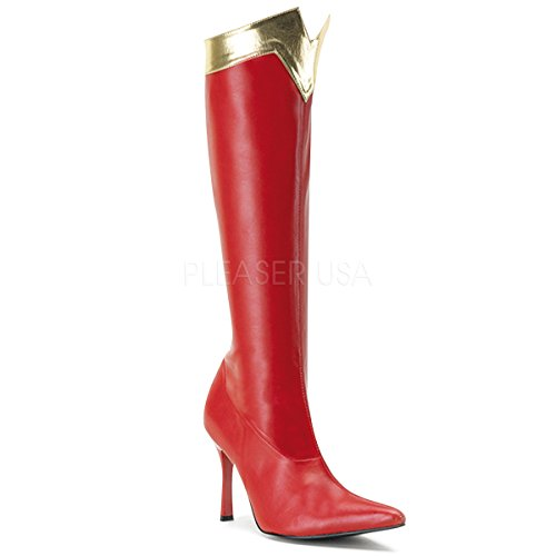botte 130 rouge laque Wonder Wonderwoman or pour Funtasma Awnd6Hqq