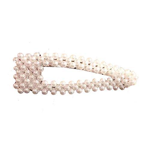 Beaums Clips de boda nupcial de la perla del pelo muchacha de las mujeres de los niños de aleación de primavera Barrette de las horquillas Pinzas de accesorios de las decoraciones