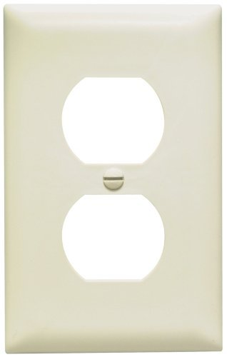 Legrand-Pass & Seymour TP8LACP TradeMaster One-Gang, Duplex Outlet Wall Plate, Light Almond, 10-Pack by Legrand-Pass & - Wall Almond Plate Light