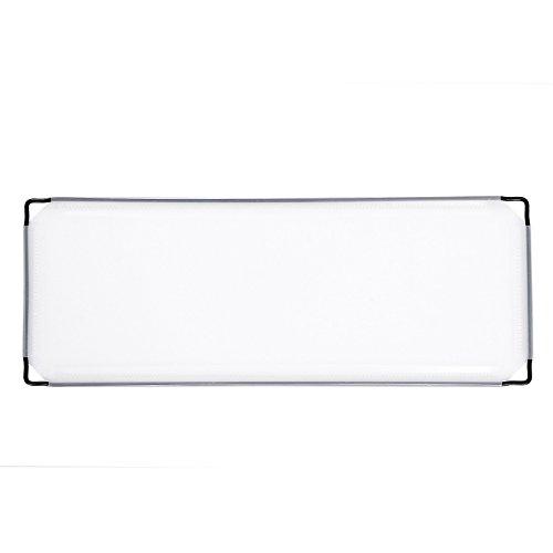 Songmics 12 Stück PP Platte Kunststoffplatte für DIY Steckregalsystem halbtransparent weiß 45,5 x 17 cm ALPC04-12 (Winziges Teleskop)