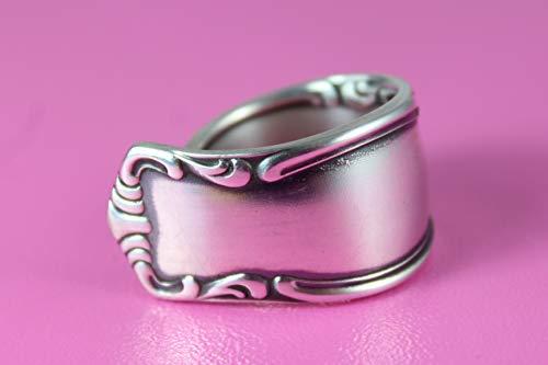 Rokoko Besteck Schmuck Ring, ca. 66 (21,1) Ring aus Besteck
