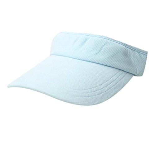UFACE Visor Tennis Cap Sport topless Zylinder Solide Baumwolle Baseball Cap Snapback Caps Hip Hop Hüte (Himmelblau)