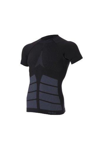 Odlo Herren Shirt Short Sleeve Crew Neck Evolution Warm Unterhemden Ku.arm He/Uni