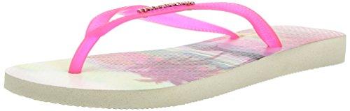 Havaianas Slim Paisage, Tongs Femme Beige 0121