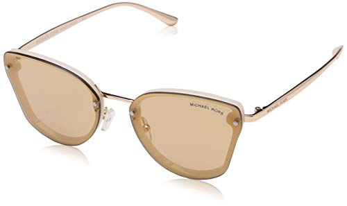 Michael Kors Damen 0MK2068 Sonnenbrille, Milky White/Rose Gold Flash, 58
