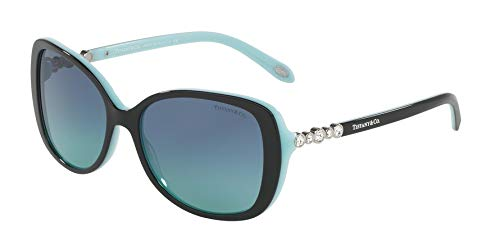 Tiffany & co. 0ty4121b 80559s 55 occhiali da sole, nero (black/blue/blueegradient), donna