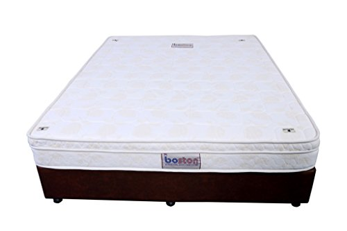 Boston Pocket Spring 8-Inch Single Size Off White Euro Top Memory Foam Mattress (84X36X8)