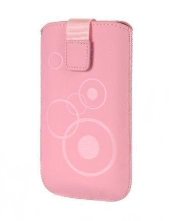 Handytasche Circle passend für Samsung Galaxy Ace 4 Handy Schutz Hülle Slim Case Cover Etui in pink mit Kettverschluss (m1) Ace Handy