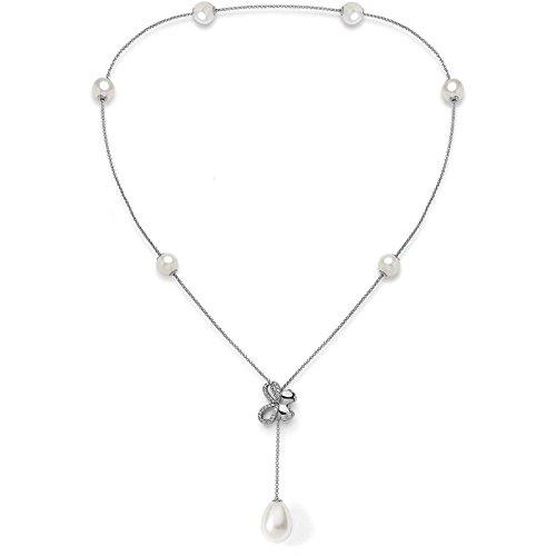 Collana comete farfalle gla_139 argento perle