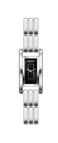 Hugo Boss - 1502105 - Ladies Watch Rectangulaire - Analogue Quartz - Steel Strap - Black