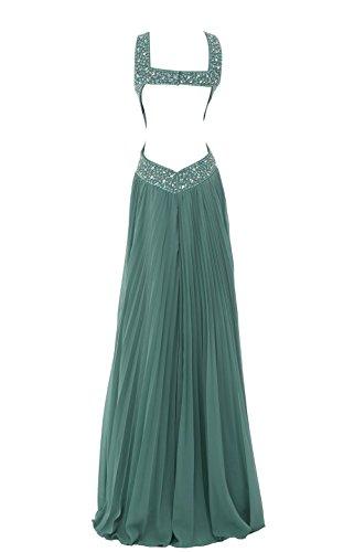 YiYaDawn Langes Schlichtes Brautjungfernkleid Ballkleid für Damen Lavendel