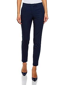 oodji Collection Mujer Pantalones Básicos Ajustados