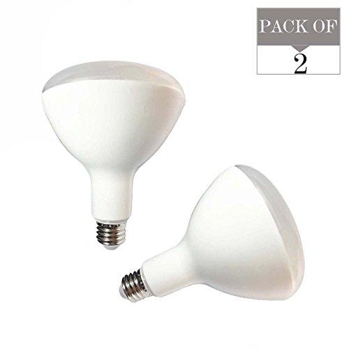 2er Pack BR40LED Glühlampen, 15W (ersetzt Standard 120Watt Glühlampen BR40), ac90V-265V, E27Sockel, 3000K (Warm Weiß), 1500lm, nicht dimmbar Led-br40