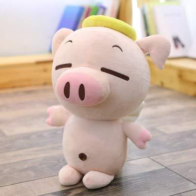 BAONZEN Lindo muñeco de cerdo angel peluche de juguete cochinillo volador cerdo suave almohada de cerdo para enviar a su novia el regalo del día de San Valentín, el equilibrio.Sentado angel luz cuerpo de cerdo, 60 cm.