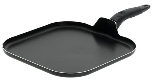 Mirro A79713 Get A Grip Aluminum Nonstick Griddle Cookware, 11-Inch, Black by Mirro