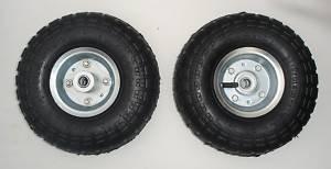 Pneumatische Rad (Pneumatische Räder für Sackkarren, Trolleys und Schubkarren, 2 Stück)