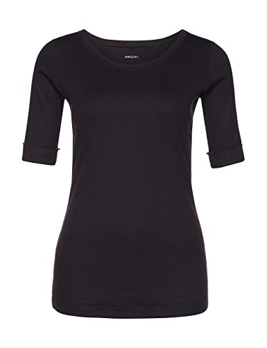Marc Cain Essentials Damen T-Shirt +E4809J50 Blau (midnight blue 395)