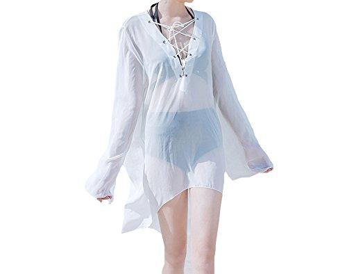 unika Bikini Cover up Strandponcho Strandkleid Sommerkleid Sommer Bademode Spitze Boho (One Size, 1009) (Sehen Sie Durch Schwimmen Kostüme)