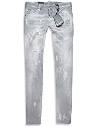 Dsquared2 Herren Jeans   Long Clement Jean 48 50 52 54 Grey Distressed DS2 4cd95164cb