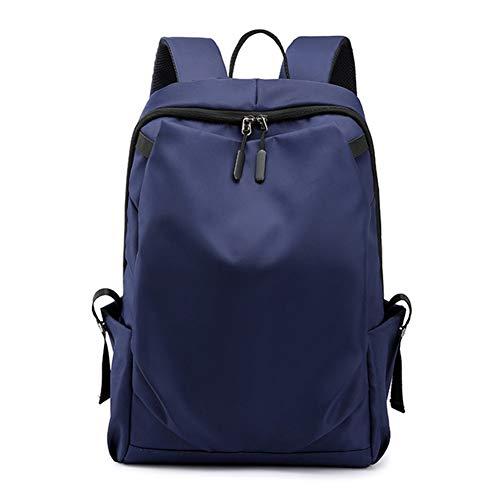 WENDYRAY Schulrucksack, College Student Rucksack für Männer Frauen Jungen Mädchen, USB High School Rucksack passt 15,6-Zoll-Laptop,Blue,M