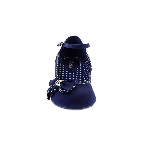 Ruby Shoo Damen Pumps Cordelia Polka Dot Schleifen Schuhe Blau Geschlossen 37 - 4