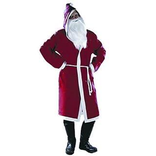 Unbekannt Sigro Santa Claus Filz Jacke mit Kapuze, Rot/Weiß