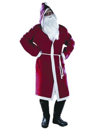 SIGRO Père Noël en Feutre Veste avec Capuche, Rouge/Blanc