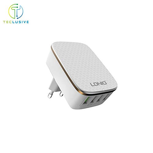 TECLUSIVE Ldnio 4 USB Multi Ports Mobile Wall Charger || 4.4A Rapid Charge Mobile Travel Adapter || Exclusively by TECLUSIVE