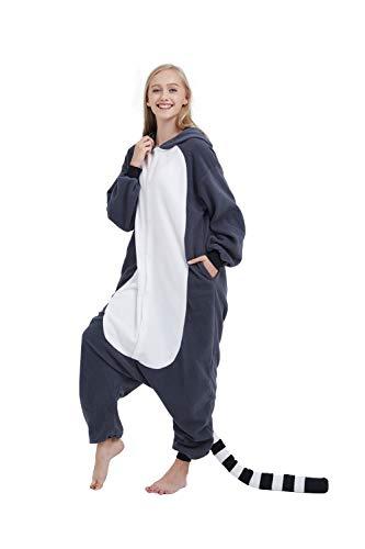 it Schlafanzug Tier Onesies Sleepsuit mit Kapuze Erwachsene Unisex Overall Halloween Kostüm Jumpsuit ()