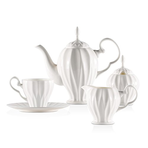 Batman Beste Anzüge (AJUNR-Feine Mode Keramik Kaffeetasse Set Kaffeekanne Milch Topf Zucker Anzug Bone China Tee Tee)